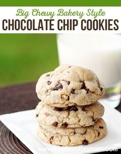 Bakery style chocolate chip cookies at home? Yes please! My go to chocolate chip cookie recipe!