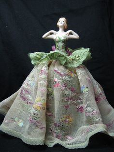 A new Halfdoll Pincushion doll in porcelain in by KaysStudio