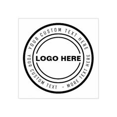Custom BUSINESS LOGO STAMP - business template gifts unique customize diy personalize