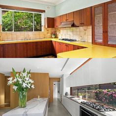 Hanerfield Project - kitchen renovation before and after...