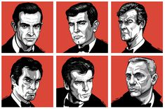 "Fan Art Thursday ""James Bond Will Return"" by Ross Burt Roger Moore, Sean Connery, Daniel Craig, James Bond Girls, Bond Series, Timothy Dalton, Raining Men, Forever, Pop Culture"