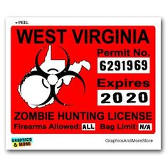 1000 images about zombie hunting permits on pinterest for Wv fishing license online