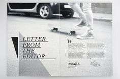 Letter from the editor –Everyday Magazine : Mikael Fløysand