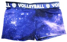 Love This : Volleyball Spandex Shorts - GALAXY