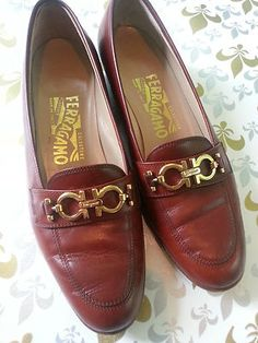 Womens Salvatore Ferragamo Loafers Size 6 5 B British Tan Brown Shoes Leather | eBay $79