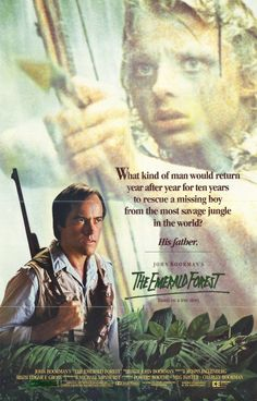 The Emerald Forest (1985) - Like several other Boorman films, this is about a clash of cultures. The child of an American engineer is abducted and raised into adolescence by an Amazonian Indian tribe, and refuses to return to white civilisation. The father, a builder of dams, believes in technology but comes to recognise the natives' point of view and his own responsibility. Once more the director proves that he is a great painter of landscapes, with a fabulous bestiary and a quivering…