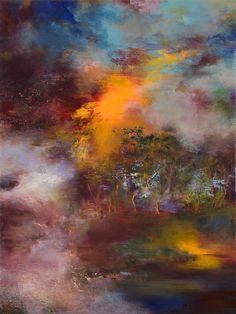 """Saatchi Online Artist: Rikka Ayasaki; Acrylic, Painting """"Twilight 7009"""""""
