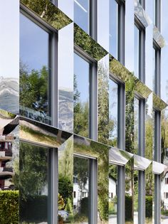 Berufsschule Oberwallis by BONNARD WOEFFREY ARCHITEKTEN pictured by HANNES HENZ…