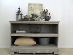 These bookshelves are made from an old dresser, an excellent reuse especially if the dresser had broken drawers.