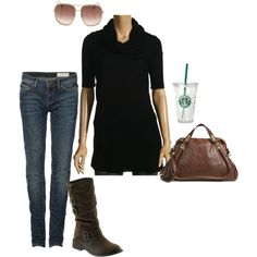 I didn't know Starbucks was an accessory. Lol. But I love the outfit.