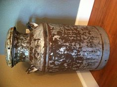 Upcycled old milk can...thank you marketing class for teaching me exactly what upcycling is!