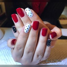 Unhas Decoradas Vermelhas: Unhas com poás Perfect Nails, Gorgeous Nails, Pretty Nails, Love Nails, Pink Nails, Nagel Gel, Stylish Nails, Creative Nails, Manicure And Pedicure