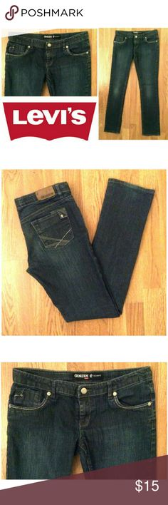 Skinny Denizen Levi's jeans These cute Denizen by Levi's skinny jeans are perfect for any occasion! Cotton dark blue denim wash with spandex for stretch fit Traditional 5 pocket design,  leather logo tag on back, subtle decorative stitching on pockets. Size 16 Regular. Dress up or down with sneakers and tees, sweaters and boots...possibilities are endless! NWOT, UNUSED, NO DAMAGES. Grab yours for less and look cute in Levi's! Levi's Bottoms Jeans