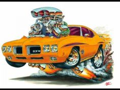 Cartoon Muscle Cars