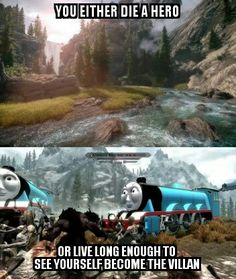 How my Skyrim SE playthrough is gonna end up