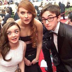 #Sophie #Turner #Sansa #Stark #Arya #Masie #Williams #Brandon #Isaac #Hempstead #Wright