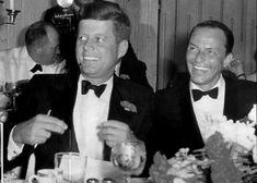 President John F. Kennedy and singer Frank Sinatra at the 1961 Inaugural Gala