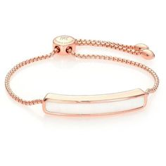 Monica Vinader Baja Chalcedony & 18K Rose Gold Vermeil Bracelet featuring polyvore, women's fashion, jewelry, bracelets, apparel & accessories, rose gold, 18 karat gold jewelry, chalcedony jewelry, monica vinader, 18k jewelry and 18k bangle
