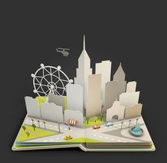 62 Trendy Ideas For Origami Design Kirigami Pop Up Pop Up Art, Arte Pop Up, Up Book, Book Art, Cuento Pop Up, Icon Design, Set Design, Paper Art, Paper Crafts