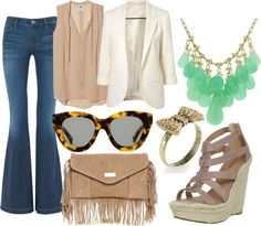 outfit for the first day of school #neutrals #hippie #chic