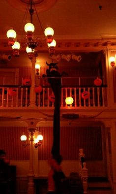 The Golden Horseshoe decorated for trick or treating