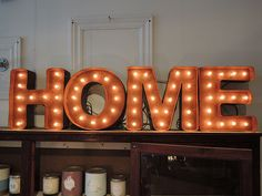 Rusty Metal Letters 12`` Home