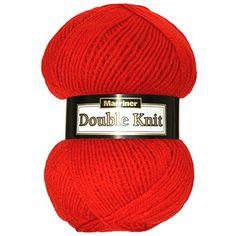 Marriner Double Knit 100G | DK Yarn/Wool | Acrylic (Red)
