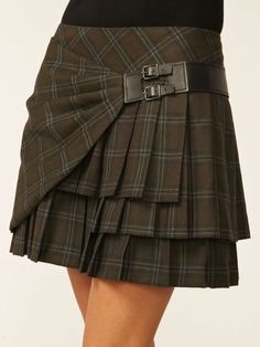 Plaid Pleated Skirt by L.A.M.B. at Gilt