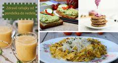 Nevieš čo raňajkovať celý týždeň? Pripravili sme pre teba pestrý jedálniček na celý týždeň. Pozri na tieto zdravé raňajky od pondelka do nedele.