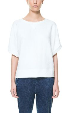 Image 1 of OVERSIZE JACQUARD TOP from Zara