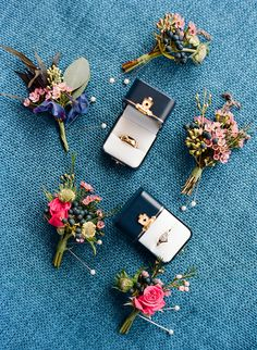 Colorful and Unique Boutonnieres https://heyweddinglady.com/colorful-chic-nantucket-wedding-day/ #wedding #weddings #weddinginspiration #realwedding #weddingday #nantucket #colorful #brides