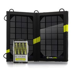 The Goal Zero Guide 10 Plus Adventure Kit Solar Charger powers up iPad®s and other tablet computers, cell phones, GPS and rechargeable batteries anywhere you go—just add sunlight! Camping Survival, Survival Gear, Camping Gear, Outdoor Camping, Outdoor Gear, Campsite, Backpacking, Adventure Gear, Solar Charger
