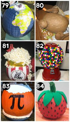 Pumpkin Challenge Winning Ideas A huge collection of the BEST creative pumpkin decorating ideas for Halloween! Including 60 creative pumpkin carving ideas AND 90 no-carve pumpkin ideas. Pumpkin Art, Pumpkin Crafts, Fall Crafts, Holiday Crafts, Holiday Fun, Pumpkin Painting, No Carve Pumpkin Ideas, Painting Pumkins Ideas, Creative Pumpkin Carving Ideas