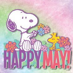 HAPPY MAY! Charlie Brown Quotes, Charlie Brown Y Snoopy, Peanuts Cartoon, Peanuts Snoopy, Snoopy Cartoon, Woodstock Snoopy, Neuer Monat, Snoopy Pictures, Snoopy Images