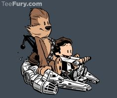 Star Wars & Calvin and Hobbes 'Best Buddies Strikes Back' Shirt by Chris Wahl originally ordered from TeeFury