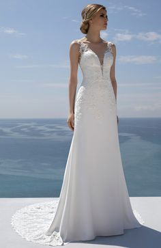 Mark Lesley Bridalwear 7278 - Mark Lesley Bridalwear Wedding Dress Sleeves, Elegant Wedding Dress, Perfect Wedding Dress, Designer Wedding Dresses, Bridal Dresses, Wedding Gowns, Bridesmaid Dresses, Dresses With Sleeves, Backless Wedding