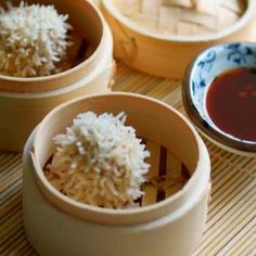 Little hedgehogs of yumminess.try using a bamboo steamer atop your Thermomix or just plain old Varoma will do a great job. Gf Recipes, Asian Recipes, Asian Foods, Bamboo Steamer Recipes, Steamed Rice, Fries In The Oven, Light Recipes, Lunches And Dinners, Healthy Recipes