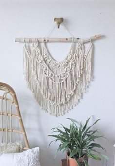 Large Macrame Wall Hanging, Woven Wall Hanging Large Hanging Planters, Indoor Plant Hangers, Rope Plant Hanger, Macrame Plant Holder, Large Macrame Wall Hanging, Macrame Plant Hangers, Indoor Plants, Ceiling Hanging, Purple Walls
