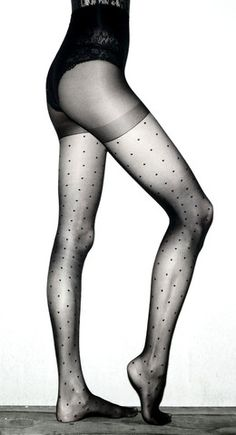 "Wade & Belle ""Not Too Tights"" in polka dot"