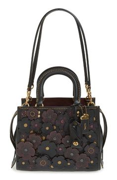 COACH 1941 COACH 1941 Rogue 25 Tea Rose Appliqué Leather Crossbody Bag available at #Nordstrom