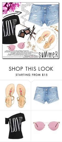 """#113"" by fashion-pol ❤ liked on Polyvore featuring Lilly Pulitzer, rag & bone/JEAN, La Femme, Oliver Peoples, Bonheur and summersandals"