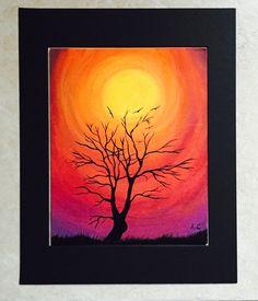 Sunset acrylic painting by ArditaLoveArt on Etsy