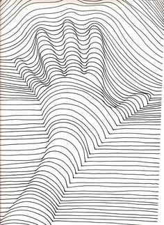hand free coloring page coloring op art illusion optique main