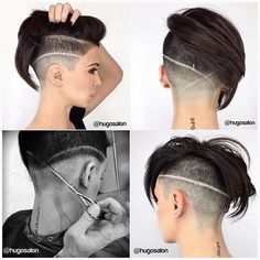30 Shaved Sides Haircut Female Ideas in 2019 - Love this Hair Short Wedding Hair, Wedding Hairstyles For Long Hair, Bridal Hairstyles, Undercut Hairstyles, Cool Hairstyles, Indian Hairstyles, Hairstyle Ideas, Bangs Hairstyle, Pixie Hairstyles