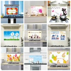 Where to apply: Smooth wall,tile. Creative Kitchen Decoration,Beautiful and Hygienic. Wall Stickers Tv, Bathroom Wall Stickers, Wall Mural Decals, Removable Wall Murals, Kitchen Vinyl, Kitchen Decor, Glass Mosaic Tiles, Wall Tiles, Pvc Wall