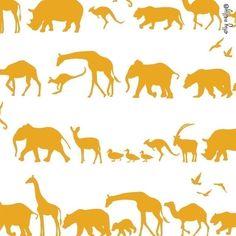 safari jungle animals yellow