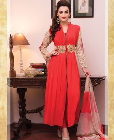 Buy Classy Red Readymade Salwar Kameez online at  https://www.a1designerwear.com/classy-red-readymade-salwar-kameez-3  Price: $115.13 USD
