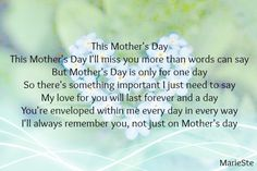 ♡ Our second one we always apart. I miss you Mom, happy Mother's day, xox 8th May 2015 ♡