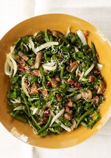 Parmesan Green Beans and Kale - so so good!! Amazing flavor!! (I did omit the mushrooms)