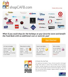 shopCAFB.com shopping portal for cause-related marketing campaigns